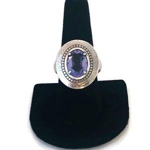 Brighton ring purple stone in center.  Size 8.5